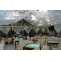 Wholesale Backyard Outdoor Party Tents , Clear Wedding Marquee Tent With Lining Decorations from china suppliers
