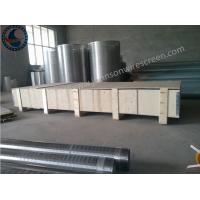 Wholesale Sand Control Johnson Wire Screen Stainless Steel 304 / 304L / 316L Grade from china suppliers