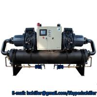 Double compressor screw compressor chiller