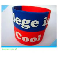 China 1inch embossed silicone wristband for sale