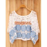 Wholesale Crocheted Lace Women Shirts For Dress Cover Up Casual Wearing Summer 2015 new Pull over from china suppliers
