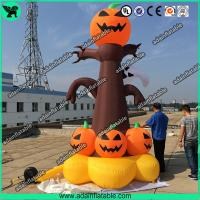 Wholesale 5m Halloween Inflatable  Decorations Halloween inflatable pumpkin Tree with lighting from china suppliers