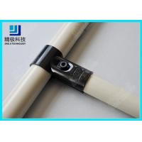 Quality Adjustable Metal Joint for Pipe Rack , Thickness 23mm  T-Type Black Tubing Joint HJ-1 for sale