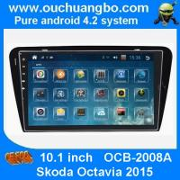 Wholesale Ouchuangbo android 4.2 Skoda Octavia 2015 DVD radio gps support 4 core canbus swc BT from china suppliers