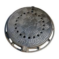 Wholesale B7090R Anti-dust fall ductile cast iron manhole cover metal drain covers with frame diameter 700*900mm sale price from china suppliers