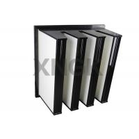 Buy cheap Polyester V Bank Filter 4V Design F8 for Pharmaceutical Clean Room air filter from Wholesalers