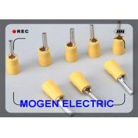 Wholesale 4 - 6mm Plating Quick Disconnect Wire Terminals , Yellow Insulated Pin Terminal from china suppliers