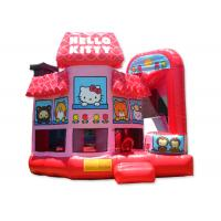 Wholesale Multi - Function Commercial Hello Kitty Inflatable Bounce House Combo Rentals from china suppliers