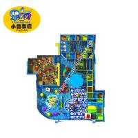 Coloful Soft Indoor Playground Equipment Play Areas For supermarket Games