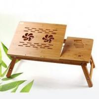 Wholesale height adjustable working study table with shelf bamboo computer desk from china suppliers