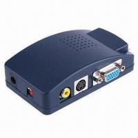 Wholesale VGA to AV (CVBS) + S-VIDEO Converter Box, with OSD Operation Display from china suppliers