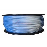 Wholesale 1.75MM Blue To White Color Changing Filament PLA / 3D Printer Support Material from china suppliers