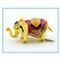 China Gold Elephant for trinket box jewelry box decoration box on sale