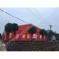 Buy cheap Popular Red Color Fabric 20m Width Luxury Wedding Dinner Party Tent Marquee from wholesalers