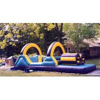 Wholesale Backyard Colorful Inflatable Bouncy Obstacle Course Eco - Friendly from china suppliers