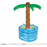Wholesale Durable Inflatable Palm Tree Cooler , Swimming Inflatable Drinks Tray 0.25mm Thickness from china suppliers