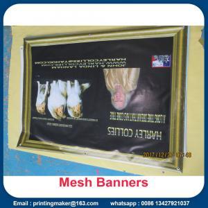 Buy cheap Printed Mesh Vinyl Banner Fence Scrim from wholesalers