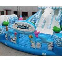 Buy cheap Outdoor Snow world design giant inflatable bouncer jumping castle from wholesalers