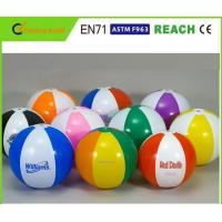 Quality Rainbow Inflatable Beach Ball 6 Panels Type Phthalate Free PVC Vinyl Material for sale
