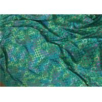 China Foil Hologram Double Knitted Printed Nylon Fabric For Leotard Garments for sale