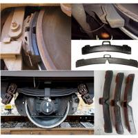 Brake Pad Material Types : Composite brake shoes block rail fastening system with