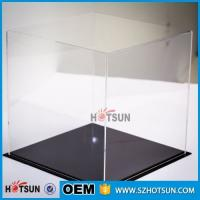 Quality acrylic football boot display case, clear acrylic baseball hat display case, plexiglass acrylic rectangle box for sale