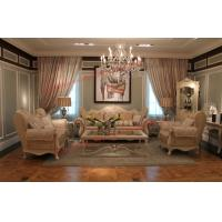 Wholesale Luxury French-type Sofa set made by Wooden Carving Frame with Fabric Upholstery from china suppliers