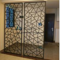 Wholesale Manufacturers selling Fashion creative iron Partition wall screen and floor door flower entrance window frame from china suppliers