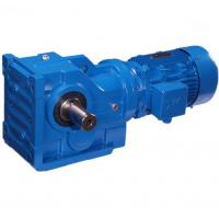Buy cheap K Series Helical Bevel Gear Motor Speed Reducer  Blue Cast Iron Gear Box from Wholesalers