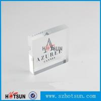 Wholesale OEM brand logo solic acrylic block, Lucite/PMMA promotion block stand from china suppliers