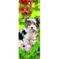Wholesale Custom Lovely Dog Lenticular 3D Animal Bookmarks With Tassel For Gifts And Souvenirs from china suppliers