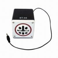 Quality Cheap MP3 PC Speaker with Flashing Light, 5.0V DC Input, Wood Shell and for sale