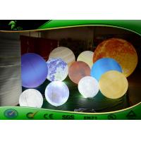 China Business Advertisment Giant Colorful Inflatable Planet With LED Light on sale