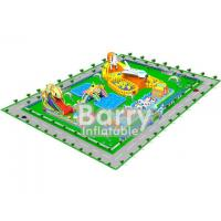 Wholesale 0.55mm PVC Material Giant inflatable water park projects , amusement park design from china suppliers