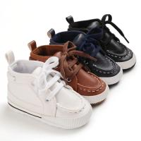 Wholesale PU leather casual shoes cotton soft sole prewalker infant baby boy shoes from china suppliers