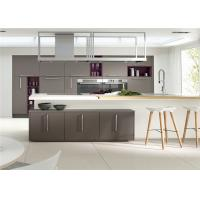 Quality MDF Kitchen Customized Cabinets With White Quartz Countertop for sale