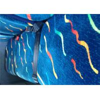 China Vintage Blue Classic Car Seat Upholstery Fabric Printed Bonding on sale