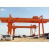 Heavy Duty Double Girder Gantry Crane Electric For Loading Unloading High Strength for sale