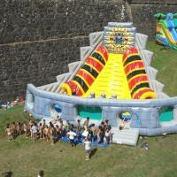 Wholesale Voodoo Pyramid Large Inflatable Slides , 7m Height Kids Outdoor Slides from china suppliers