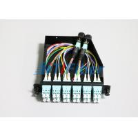 Wholesale 12 Core MTP / MPO Fiber Cassette Modules for 1U Fiber Optic Patch Panel from china suppliers