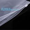 PP Flat Slider Zipper for PP Zipper Bag, Cloth package PE slider zip bag, Apparel Garment Clothing package PE slider zip for sale