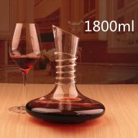 Wholesale 1800ml Non-Slip Spiral Design Lead-free Crystal Glass Red Wine Carafe Decanter from china suppliers