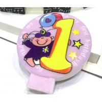 Wholesale Specialty Round Numeral Candles For Birthdays With Colored Background Star Printed from china suppliers