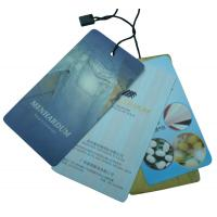 Wholesale Custom Clothes Tag, Personalized Blue Clothing Paper Hang Tags For Bags / Hats from china suppliers