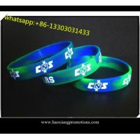 Quality Custom Made Embossed silicone wristband/bracelet in Any Color and Size for sale