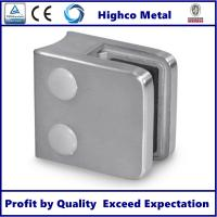Quality Stainless Steel Square Glass Clamp with Round Back 45x45mm Fit 6-10mm Glass for Staircase Glass Railing for sale