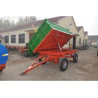 China farm agricultural small box trailer 7CX-5T 5T Hydraulic 4 wheel farm trailer with best price for sale