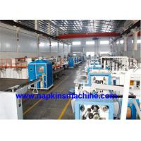 China Plastic Film Packing Facial Tissue Production Line , Facial Tissue Making Machine on sale