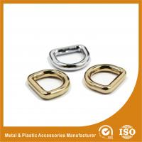 China Zinc Alloy Plated Metal D Ring for Handbag Accessories 13mm Width on sale