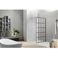 China 8mm Glass Walk-in Shower Screen with Supporting Bar for sale
